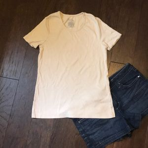 Beige fitted T-shirt